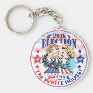 Trump versus Hillary 2016 Basic Round Button Keychain