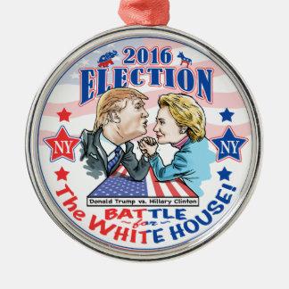Trump versus Hillary 2016 Metal Ornament