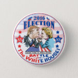 """Trump versus Hillary 2016 Pinback Button<br><div class=""""desc"""">Donald Trump versus Hillary Clinton  Arm Wrestle in an Epic Political Battle for the White House in 2016. Who will be our next President?</div>"""