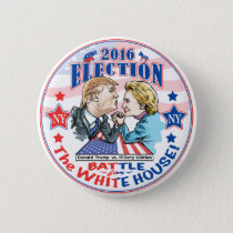 Trump versus Hillary 2016 Pinback Button