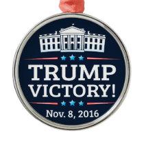 Trump Victory Metal Ornament