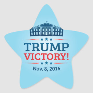 Trump Victory Star Sticker