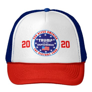 USA Themed Trump Victory Tour Fun Pro Trump 2020 Election Trucker Hat