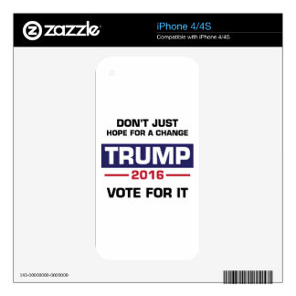 Trump Vote for Change iPhone 4S Decals
