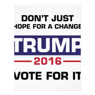 Trump Vote for Change Letterhead