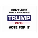 Trump Vote for Change Postcard