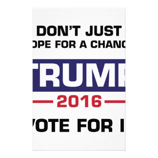 Trump Vote for Change Stationery