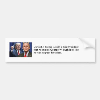 Trump vs. George W. Bush Bumper Sticker