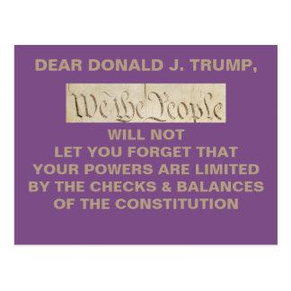 Trump We the People Checks and Balances Resistance Postcard