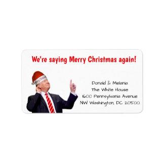 Trump: We're saying Merry Christmas again Label