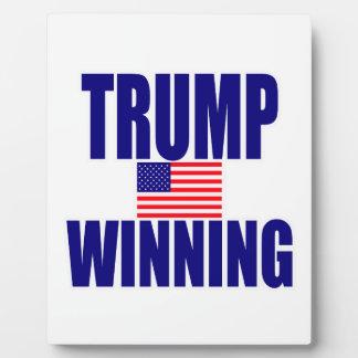 Trump winning plaque