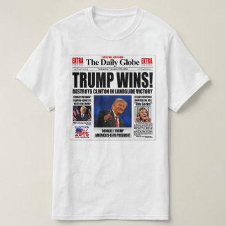 Trump Wins! Funny Anti Clinton Newspaper Satire T-Shirt