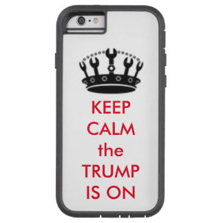 """TRUMP with Craft Crown """"Keep Calm"""" Cell Phone CASE"""