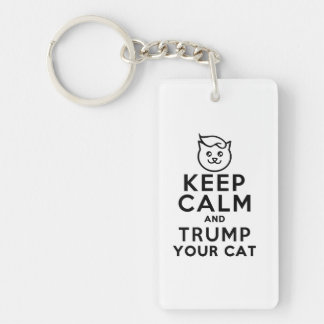 Trump Your Cat - Can I Has Wite Haus? Single-Sided Rectangular Acrylic Keychain