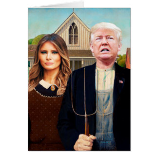 Trumped American Gothic Card