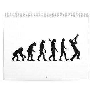 Trumper de la evolución calendario