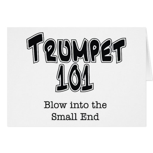 Trumpet 101 greeting cards