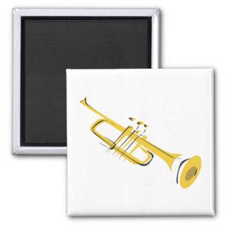 Trumpet 2 Inch Square Magnet