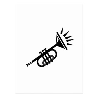 trumpet abstract with spikes black.png postcard