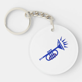 trumpet abstract with spikes blue.png keychain
