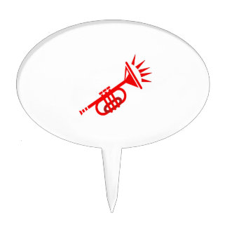 trumpet abstract with spikes red.png cake topper