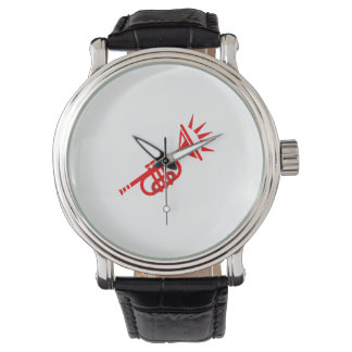 trumpet abstract with spikes red.png wrist watches