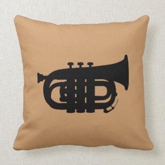TRUMPET American Throw Pillow