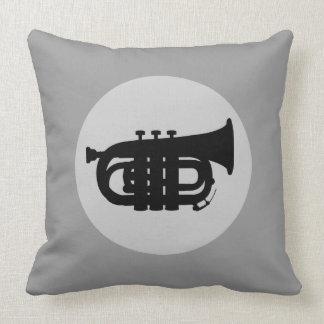 TRUMPET American Throw Pillow (Grey)