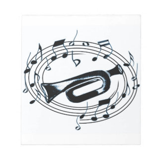Trumpet and Musical Notes