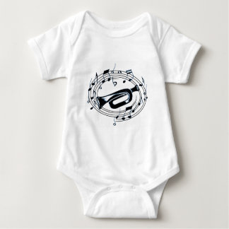 Trumpet and Musical Notes Infant Creeper
