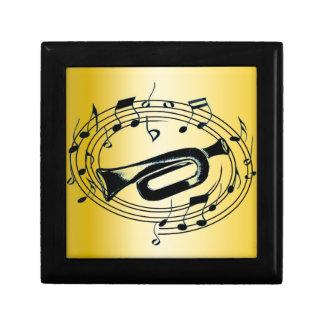 Trumpet and Musical Notes Keepsake Box
