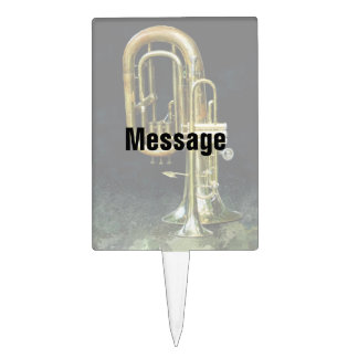 Trumpet And Tuba Cake Topper