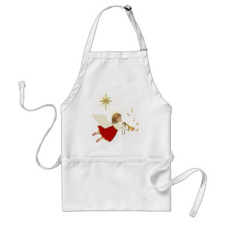 Trumpet Angel and Christmas Star Adult Apron