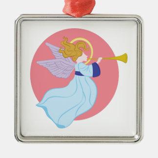 Trumpet Angel Metal Ornament