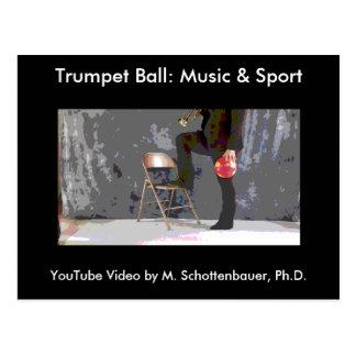Trumpet Ball: Music & Sport Postcard 1
