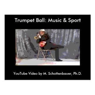 Trumpet Ball: Music & Sport Postcard 11