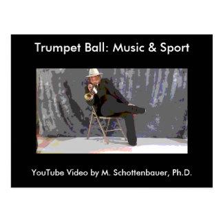 Trumpet Ball: Music & Sport Postcard 12
