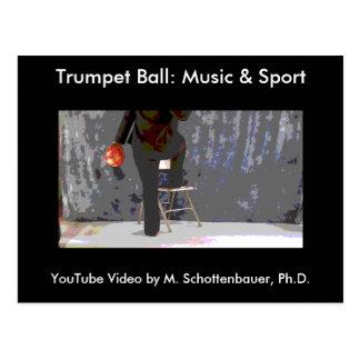 Trumpet Ball: Music & Sport Postcard 13