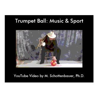 Trumpet Ball: Music & Sport Postcard 14