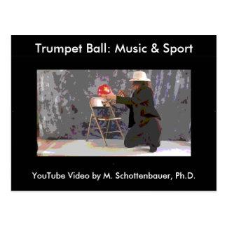 Trumpet Ball: Music & Sport Postcard 15