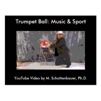 Trumpet Ball: Music & Sport Postcard 16