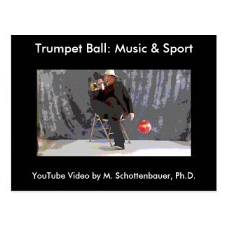 Trumpet Ball: Music & Sport Postcard 18