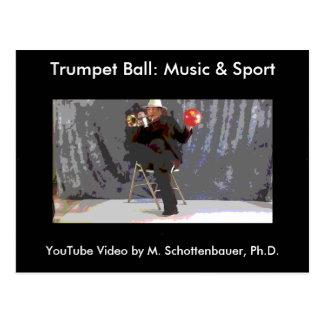Trumpet Ball: Music & Sport Postcard 19