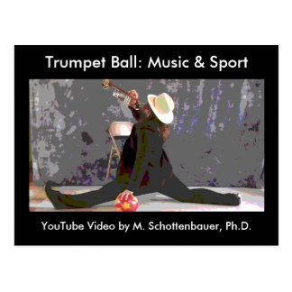 Trumpet Ball: Music & Sport Postcard 2