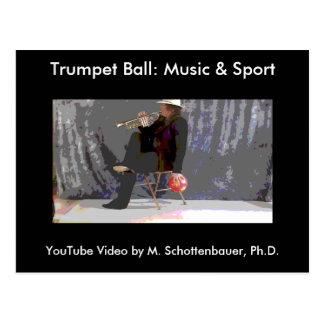 Trumpet Ball: Music & Sport Postcard 20
