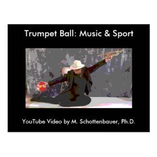 Trumpet Ball: Music & Sport Postcard 3