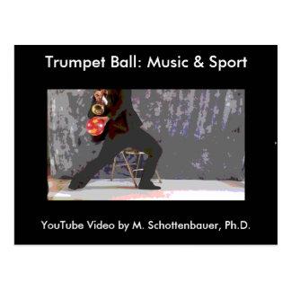 Trumpet Ball: Music & Sport Postcard 4