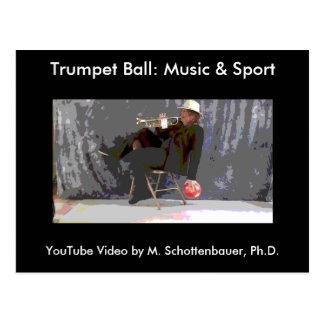 Trumpet Ball: Music & Sport Postcard 5