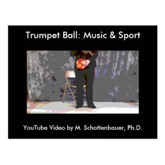 Trumpet Ball: Music & Sport Postcard 6