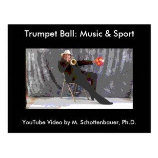 Trumpet Ball: Music & Sport Postcard 7